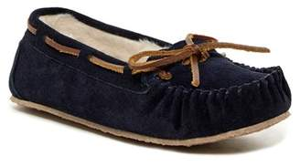 Minnetonka Junior Trapper Faux Fur Lined Moccasin Slipper (Men)