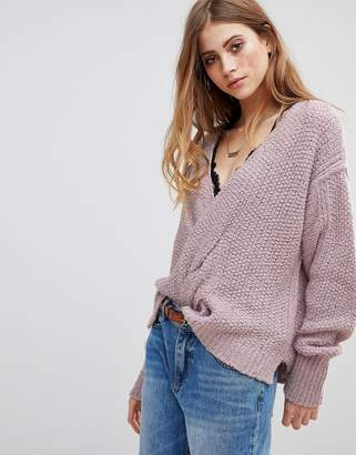 Free People V-Neck Relaxed Sweater