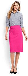 Lands' End Women's Ponte Pencil Skirt-White $59 thestylecure.com