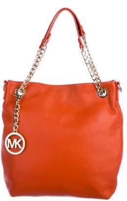 MICHAEL Michael Kors Grained Leather Satchel