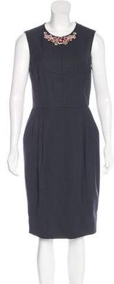 Jason Wu Wool-Blend Embellished Dress
