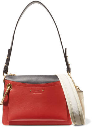 Chloé Roy Day Small Leather And Suede Shoulder Bag