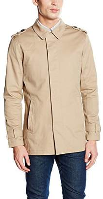 BEIGE Casual Friday Men's Trench Coat Jacket