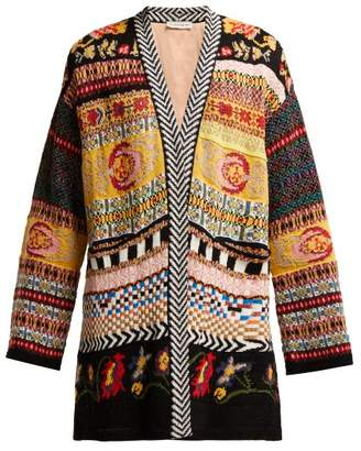 Etro Idra Cotton Blend Cardigan - Womens - Multi