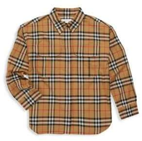 Burberry Little Boy's& Boy's Sasha Woven Button-Down Shirt