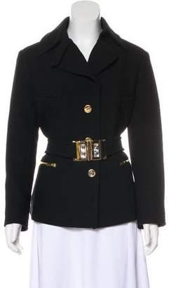 Blumarine Wool Button-Up Jacket