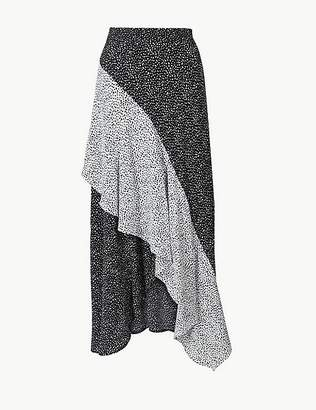 Marks and Spencer Polka Dot Wrap Style Midi Skirt