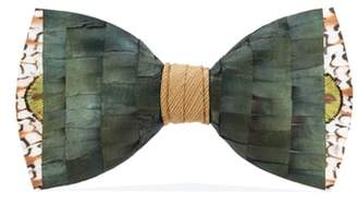 BRACKISH AND BELL Brackish & Bell Gatsby Feather Bow Tie