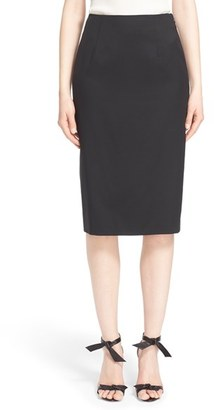 Women's Nordstrom Signature And Caroline Issa Wool Suiting Pencil Skirt $395 thestylecure.com