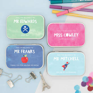 Cotton Twist Personalised Thank You Teachers Gift Tins