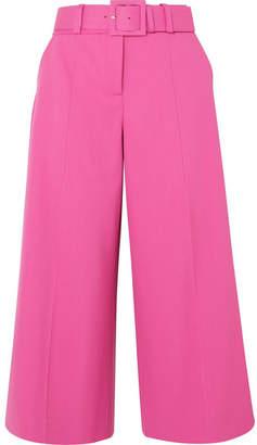 Oscar de la Renta Belted Wool-blend Wide-leg Pants