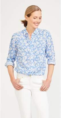 J.Mclaughlin Lois Linen Shirt in Brisbane Coral