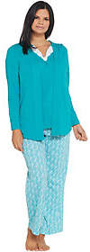 Carole Hochman Petite Ripple Tiles Patio Pant3 Pc PJ Set