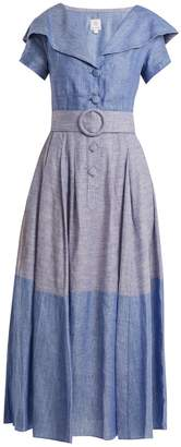 GÜL HÜRGEL Linen and cotton-blend dress