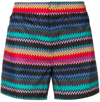 Missoni Mare zig zag print swim shorts