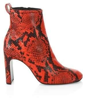 Rag & Bone Rag& Bone Rag& Bone Women's Ellis Embossed Snakeskin Booties - Red - Size 35 (5)