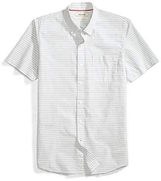 Goodthreads Amazon Brand Men's Slim-Fit Short-Sleeve Horizontal Stripe Shirt