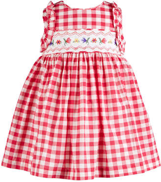 2f8c39aa1f46 Bonnie Baby Baby Girls Embroidered Smocked Waist Dress