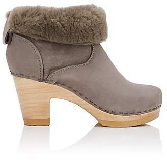 NO. 6 Women's Shearling-Lined Ankle Boots - Light Gray