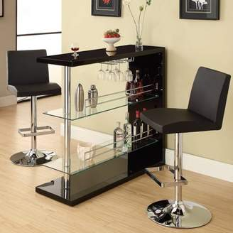 Coaster Company Coaster Contemporary Bar Storage Table, Multiple Finishes