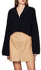 LES COYOTES DE PARIS Women's Roisin Wool-Cashmere Crop Sweater - Navy