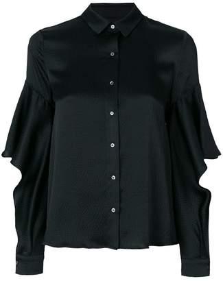 L'Autre Chose ruffle sleeved shirt