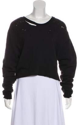 Amiri Shotgun Cropped Sweatshirt