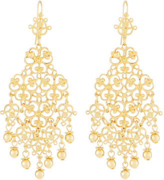 Jose Maria Barrera Large Filigree Drop Earrings