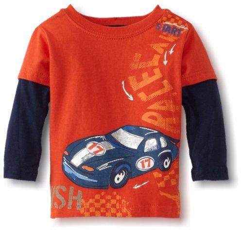 Sesame Street Watch Me Grow! by Baby-boys Infant Racecar Mock Twofer Shirt