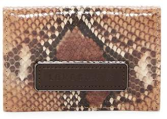 Longchamp Legend Snake Embossed Leather Credit Card Holder