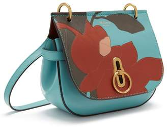 Mulberry Small Amberley Satchel Frozen, Rust, Clay and Blush Magnolia Patchwork Smooth Calf