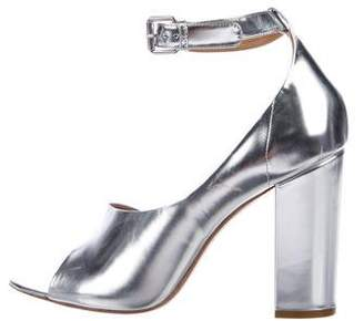 3.1 Phillip Lim Metallic Peep-Toe Pumps