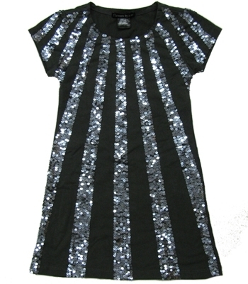 **SALE**Flowers by Zoe - Kid's Grey Sequin Ray Dress