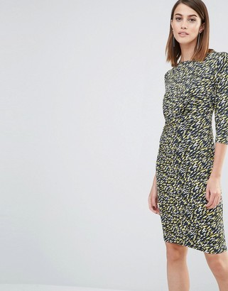 Whistles Ferrie Twist Front Dress in Print $154 thestylecure.com