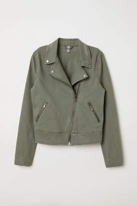 H&M Twill Biker Jacket - Green