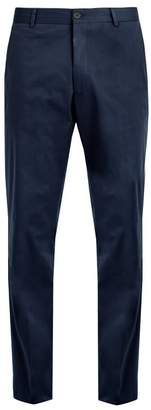 Kilgour Slim Fit Cotton Blend Chino Trousers - Mens - Navy