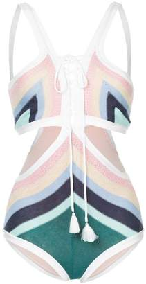 Suboo Paradiso lace front cutout one piece