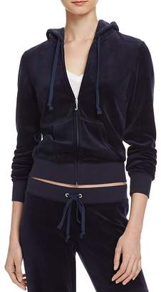 Juicy Couture Black Label Robertson Velour Zip Hoodie