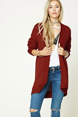 FOREVER 21+ Longline Open-Knit Cardigan $24.90 thestylecure.com