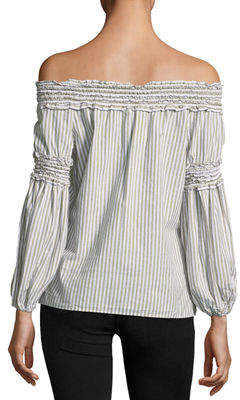 Max Studio Smocked Off-the-Shoulder Blouse