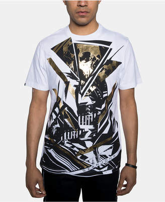 Sean John Men Foil Skull Graphic T-Shirt
