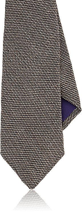 Ralph Lauren Purple LabelRalph Lauren Purple Label Men's Grenadine Silk-Cashmere Necktie-Tan