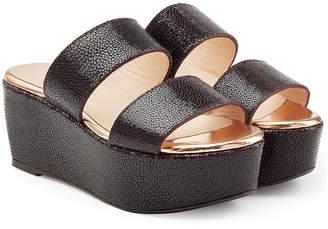 Robert Clergerie Textured Leather Platform Sandals
