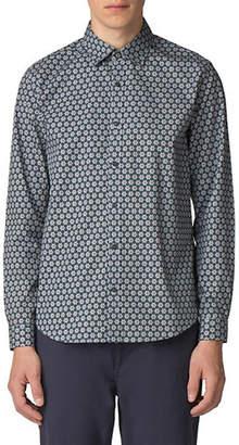 Ben Sherman Wallpaper-Print Soho-Fit Button-Down Shirt