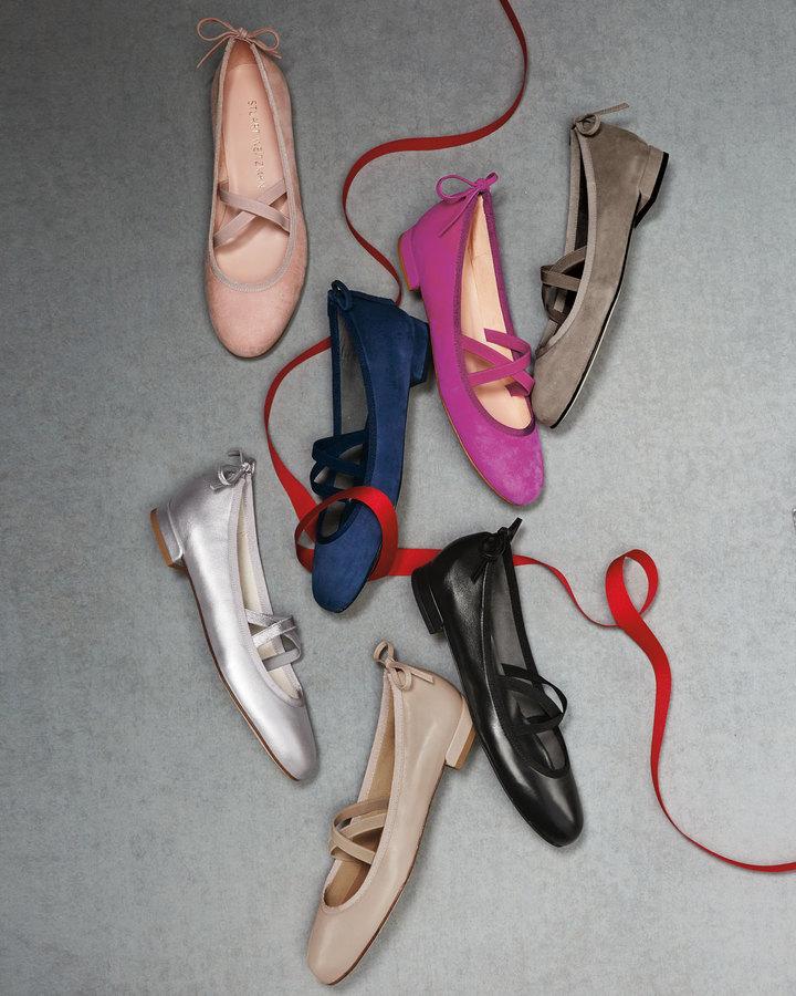 Stuart Weitzman Bolshoi Napa Ballerina Flat 6
