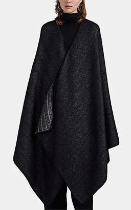 The Row Women's Ryani Silk-Cashmere Sweater Cape - Black