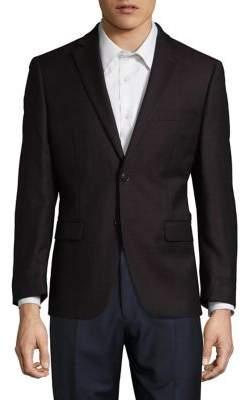 Calvin Klein Herringbone Wool Blazer