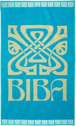 Biba Large Logo Beach Towel in Turquoise
