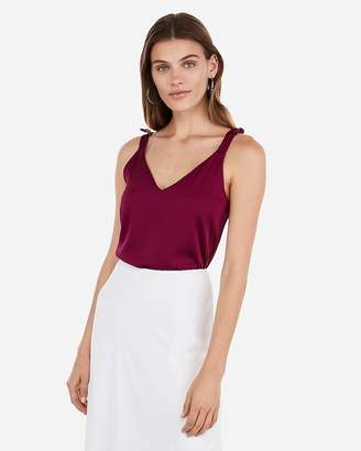 Express Satin Tie Strap Downtown Cami