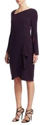 Teri Jon by Rickie Freeman Asymmetric Neck Sheath Dress